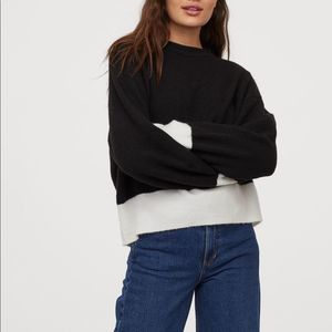 H & M black and white Knit Sweater